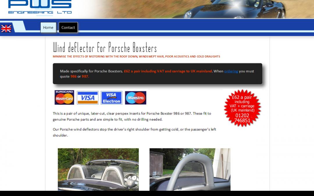 Porsche Boxster Wind Deflectors