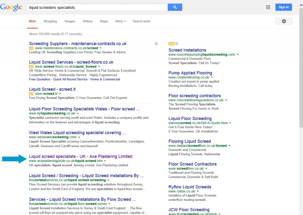 "Search query: ""liquid screed specialists"""