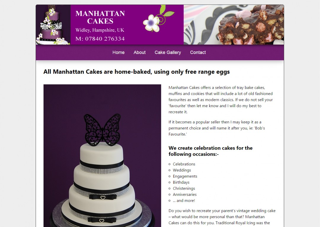 Manhattan Cakes, Widley, Hampshire