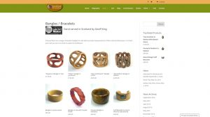 Hand carved wooden jewellery