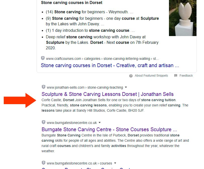 Great SEO results for our web design clients!