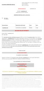 SCAM - Domain Registration Service SEO Company email