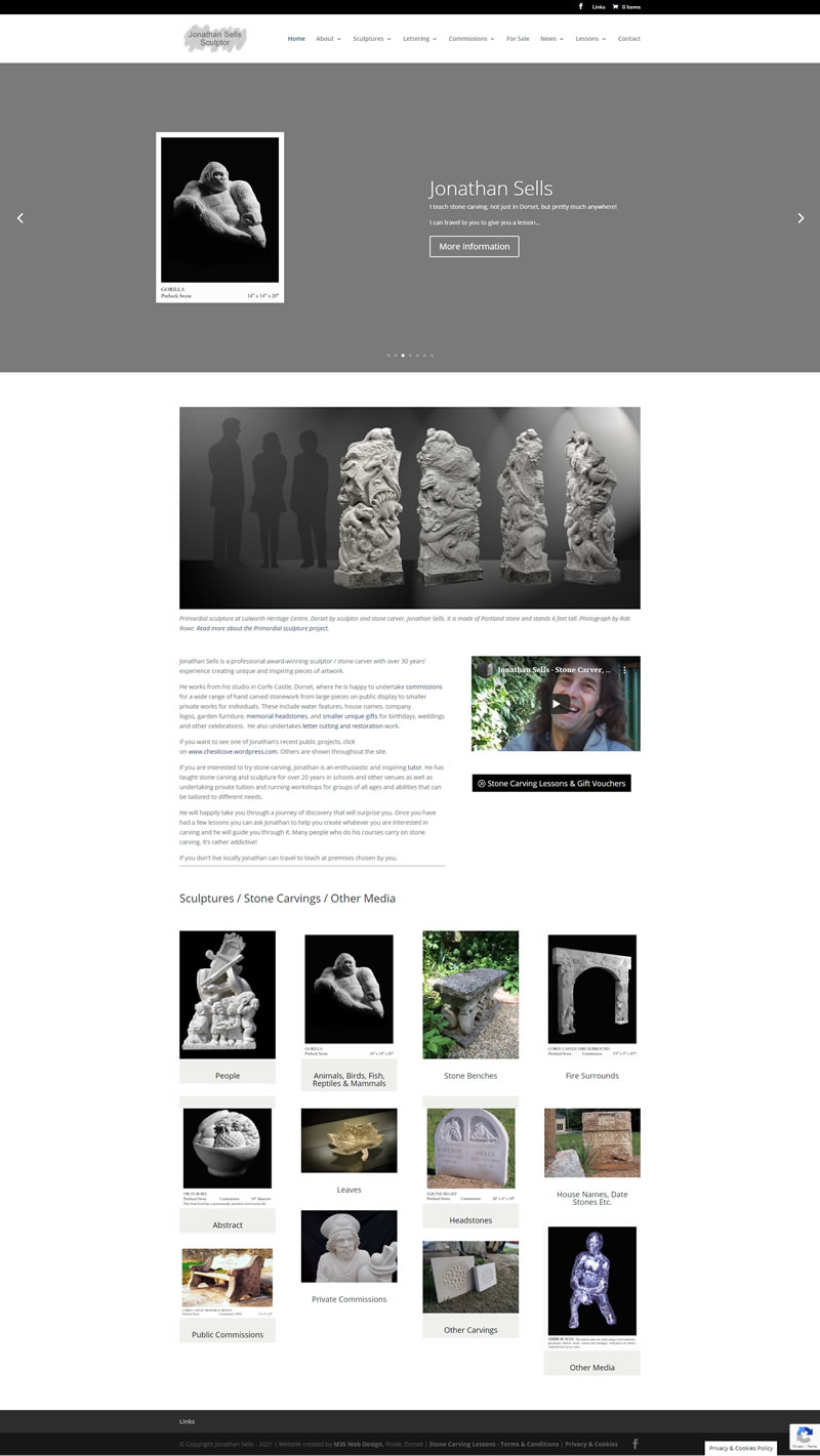Jonathan Sells, Dorset stone carver and sculptor