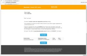 yourdomain.com Expiration - scam email
