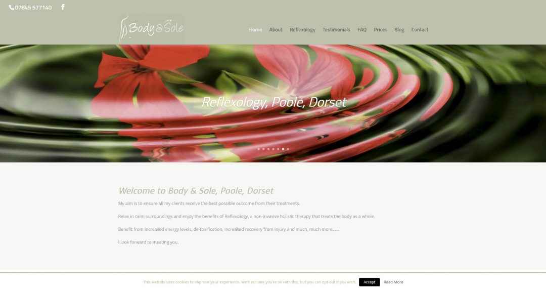 Body & Sole reflexology treatments in Poole, Dorset