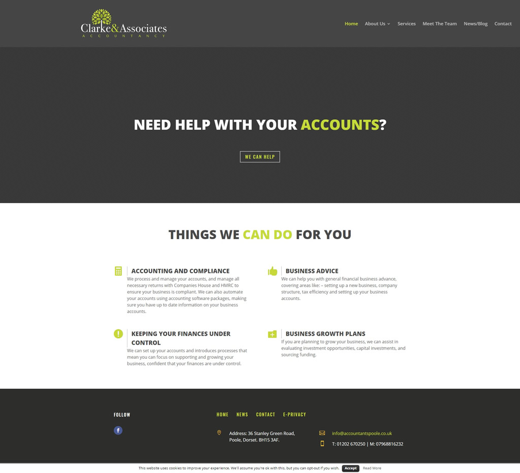 Poole accountancy services from Clarke & Associates Accountancy